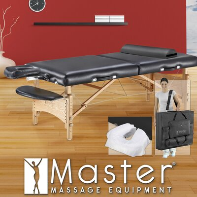 "Master Massage 32"" Olympic LX Massage Table in Black"