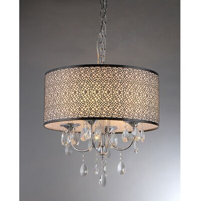 warehouse of tiffany lush 3 light crystal drum chandelier reviews. Black Bedroom Furniture Sets. Home Design Ideas