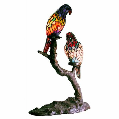Warehouse of Tiffany Exotic Birds Accent Table Lamp