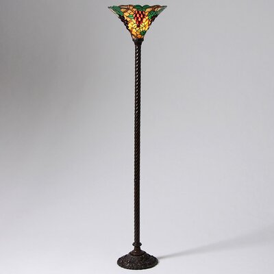 Warehouse of Tiffany Grape Torchiere Floor Lamp