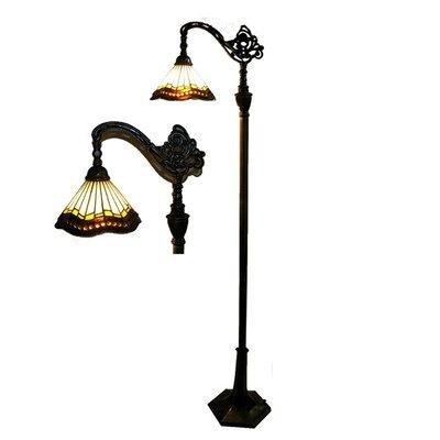 Reading floor lamp wayfair for Designer reading floor lamp