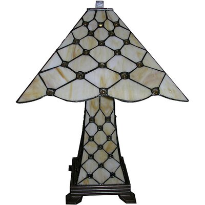 Warehouse of Tiffany Simple Jewel Double Lit Table Lamp