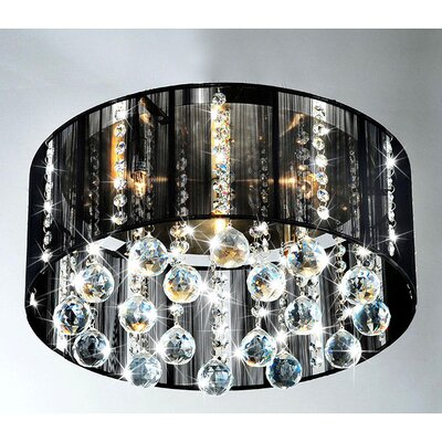 Warehouse of Tiffany 4 Light Crystal Flush Mount