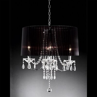 Warehouse of Tiffany 3 Light Crystal Chandelier