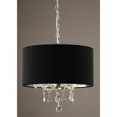 warehouse of tiffany 3 light crystal chandelier reviews wayfair. Black Bedroom Furniture Sets. Home Design Ideas
