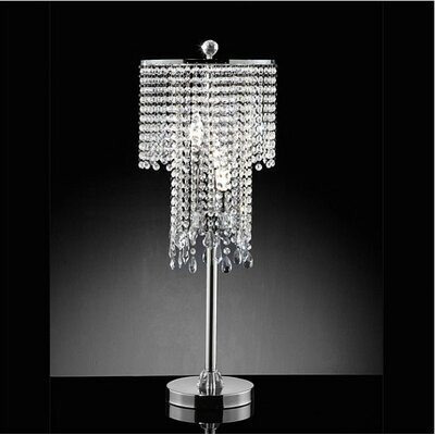 Warehouse of Tiffany 3 Light Crystal Table Lamp