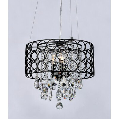 Anna 4 Light Crystal Chandelier