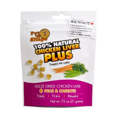 Pet 'n Shape Freeze Dried Chicken Liver Plus Peas and Carrots Cat Treats - 0.75 oz.