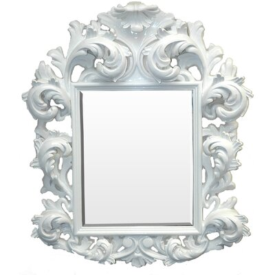 The White Knight Mirror in Glossy White