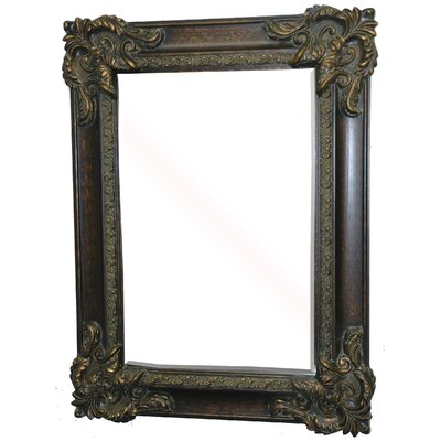 Sir Gawain Decorative Framed Mirror in Walnut Gold Patina
