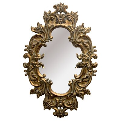 The Lion Framed Mirror in Antique Gold