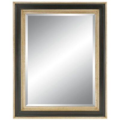 Contemporary Sophisticate Wall Mirror in Silver Black