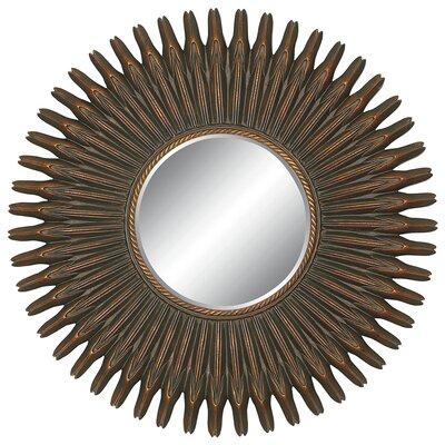 Coronet Round Wall Mirror in Crackled Gold