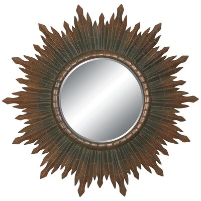 Sunburst Splendor Wall Mirror in Dark Gold