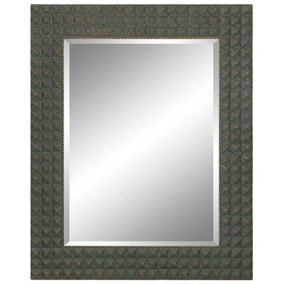 Richly Embossed Wall Mirror in Black