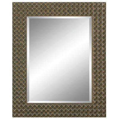 Imagination Mirrors Richly Embossed Wall Mirror in Dark Gold Silver