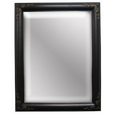 Traditionally Romantic Wall Mirror in Black Bronze
