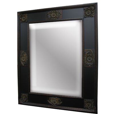 Spanish Monarch Wall Mirror in Old Black Gold