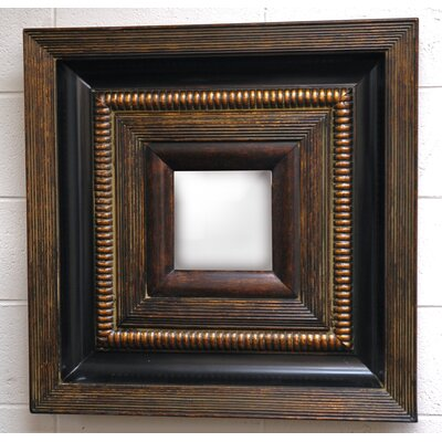Beveled Beauty Wall Mirror in Dark Gold