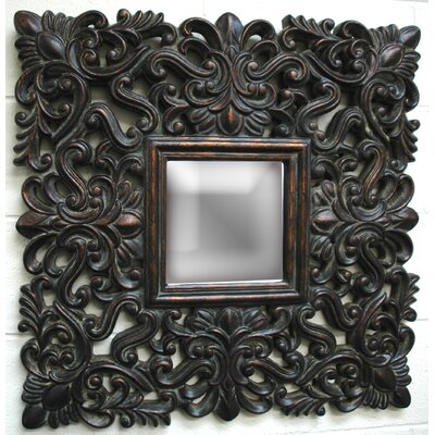 Imagination Mirrors Antique Lace Wall Mirror in Dark Gold