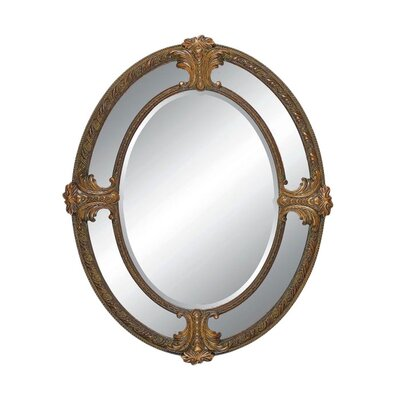 Imagination Mirrors Cupid's Reflection Wall Mirror in Dark Gold