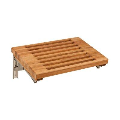 Teakworks4u Teak Wall Mount Fold Down Shower Bench Seat Reviews Wayfair