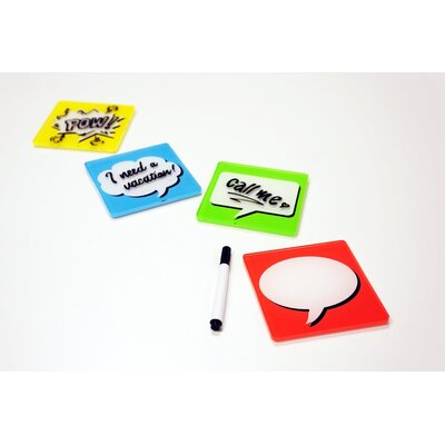 Molla Space, Inc. Bubble Text 2 Piece Coaster Pads