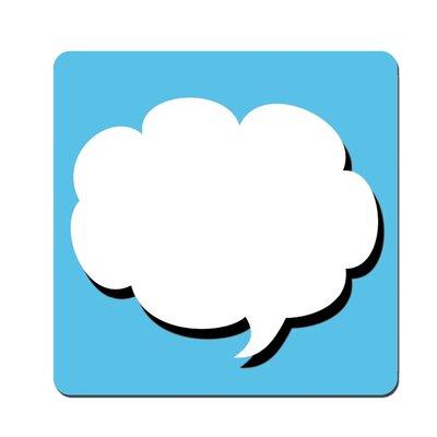 Molla Space, Inc. Bubble Text 2 Piece Coaster Pads