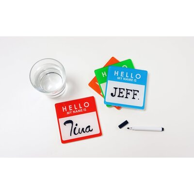 Molla Space, Inc. Name Tag Coaster Pads