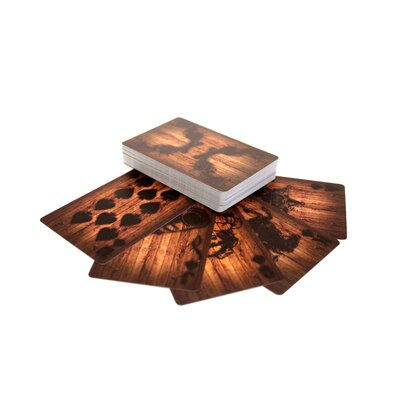 Molla Space, Inc. Wood Deck of Cards