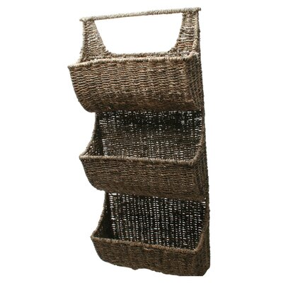TAG Baskets Seagrass Three-Part Wall Basket