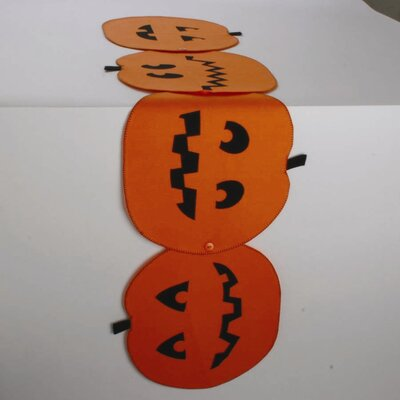 Pumpkin-Shaped Table Runner