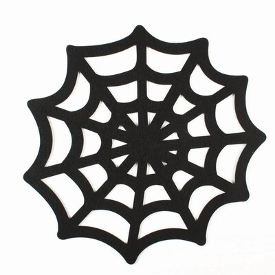 Spooky Party Spiderweb Felt Placemat (Set of 4)