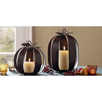 TAG Harvest Market Pumpkin Pillar Holder