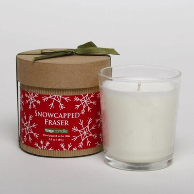 TAG Chalet Snowflake Filled Glass Votive