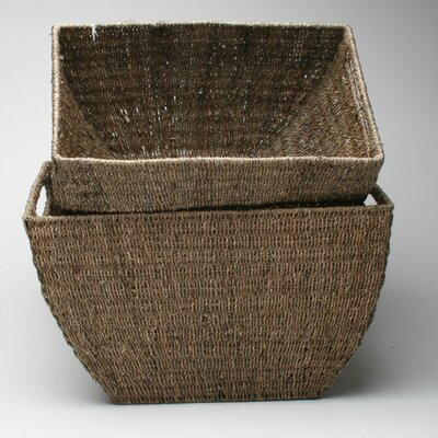 TAG Baskets Seagrass Deep Basket (Set of 2)