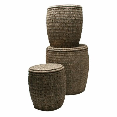TAG Baskets Seagrass Storage Ottoman