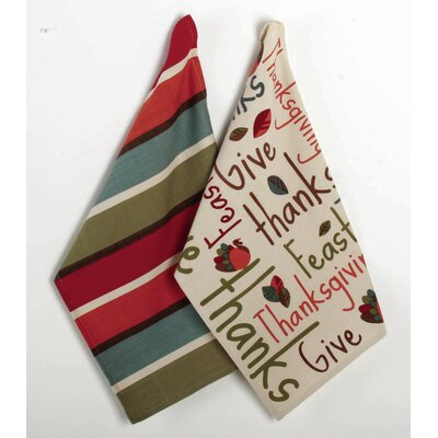 Thanksgiving Give Thanks Dishtowel (Set of 2)