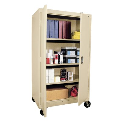 "Sandusky Cabinets Transport Three Shelf Large Mobile Storage - 66"" x 36"" x 24"""