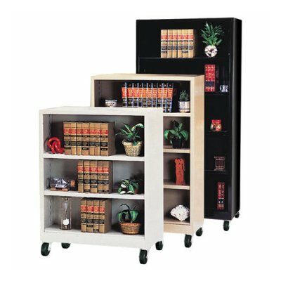 "Sandusky Cabinets 58"" H Four Shelf Mobile Bookcase"