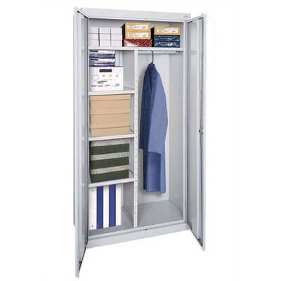 "Sandusky Cabinets Elite Series 36"" Mobile Combination Wardrobe Cabinet"
