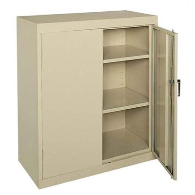 "Sandusky Cabinets Classic Plus Counter Height Mobile Cabinet - 18"" Deep"