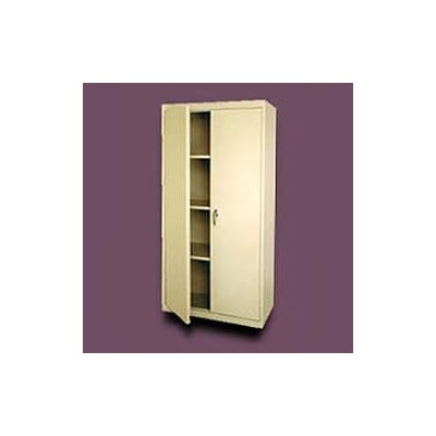 Sandusky Cabinets Valueline Deep Mobile Storage Cabinet with Fixed Shelves