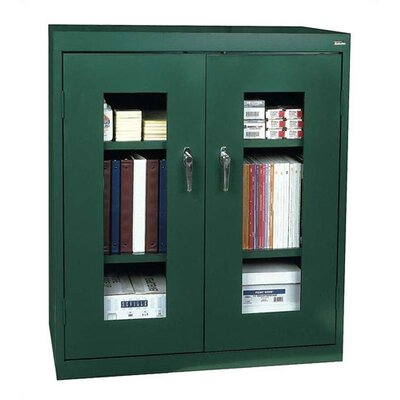 Sandusky Cabinets Clear View Extra Large Capacity Counter Height Cabinet