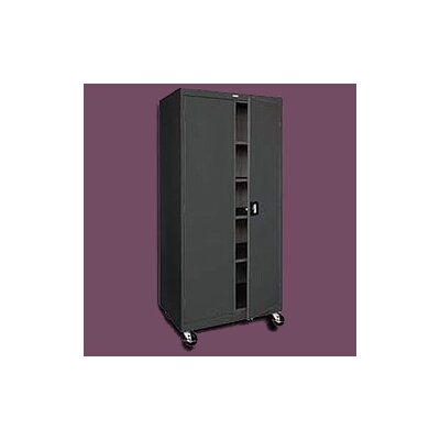 "Sandusky Cabinets Transport Five Shelf Wide/Tall Mobile Storage - 78"" x 36"" x 24"""