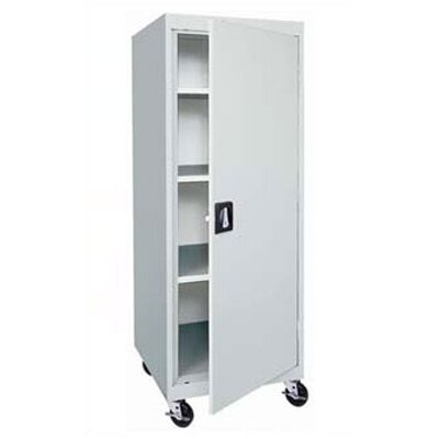 Sandusky Cabinets Transport Single Door Mobile Storage - 65&quot; x 24&quot; x 24&quot;