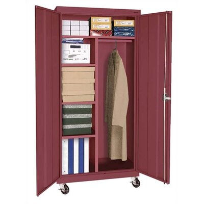 "Sandusky Cabinets Transport 46"" Mobile Combination Wardrobe Cabinet"