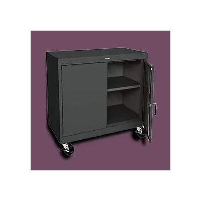 "Sandusky Cabinets Transport 36"" Wide Single Shelf Work Height Storage Cabinet"
