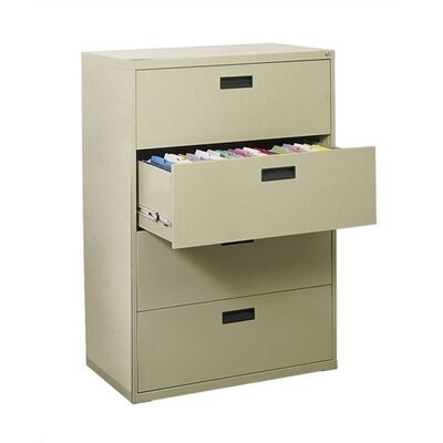 Sandusky Cabinets Four-Drawer Lateral File Cabinet
