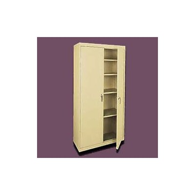 Sandusky Cabinets Valueline Tall Mobile Storage Cabinet with Four Fixed Shelves